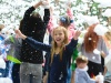 Foam disco for children in the park